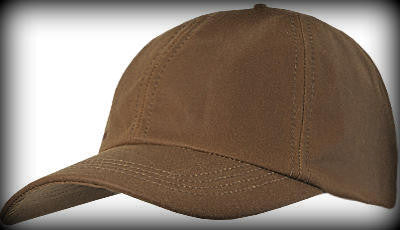 Barbour Wax Sports Baseball Cap in SANDSTONE side