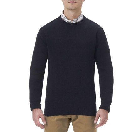 Barbour Nelson essential mens jumper in Navy