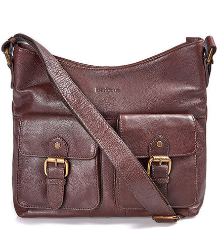 Barbour Slateford Shoulder Bag in dark brown leather LBA0232BR71