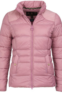 Barbour Brecon-Ladies Quilt-Pink Rose Bay-LQU1076PI32 collar