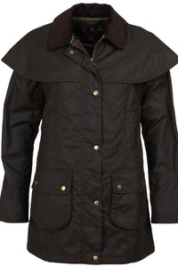 Barbour Dipton-Ladies Wax jacket-Olive-LWX0960OL71 cape