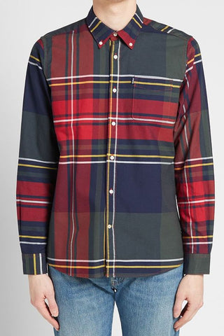 Barbour Shirt-Highland 2 Tailored-Navy-MSH4418NY91