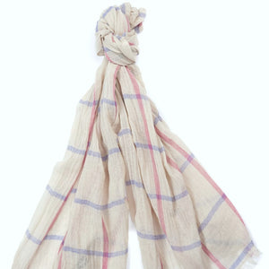 Barbour Scarf-Windowpane-Country Wrap-LSC0277SN15 light