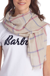 Barbour Scarf-Windowpane-Country Wrap-LSC0277SN15