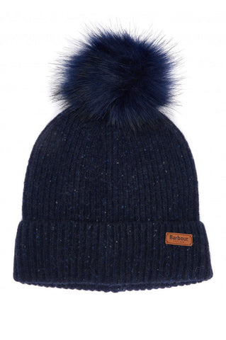 Barbour Women's Weymouth Pom Beanie Hat - Navy - LHA0359NY91