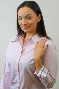Barbour Ladies Shirt-Portsdown-Pale Pink-LSH1206PI35 cuff