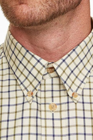 Barbour shirt Tattersall 100% cotton Navy/Olive MSH0002NY51