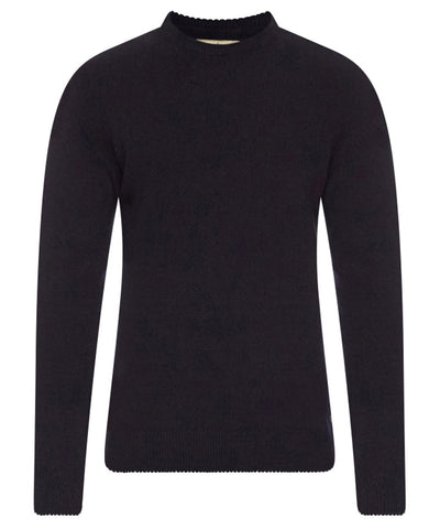 Barbour Nelson essential mens jumper in Navy arms