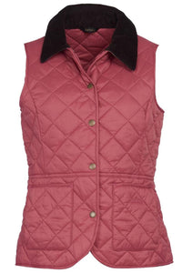 Barbour Gilet-Deveron-Ladies -Pink/Tayberry-LCI0041PI52 flat