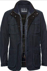 Barbour Ogston-Mens Wax Jacket-Navy-MWX0700NY51 insert