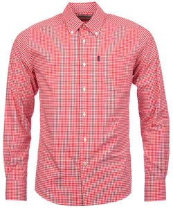 Barbour Shirt-Leonard-Pillar Box Red Gingham-Fitted-MSH3334RE55 fitted