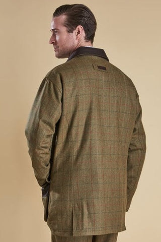 Barbour Tweed-Moorhen Wool Jacket-Olive-MWO0224OL55 back