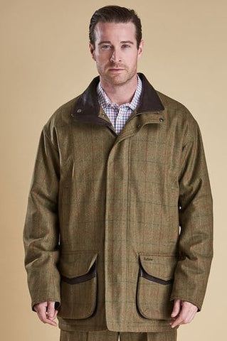 Barbour Tweed-Moorhen Wool Jacket-Olive-MWO0224OL55