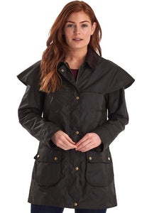 Barbour Dipton-Ladies Wax jacket-Olive-LWX0960OL71