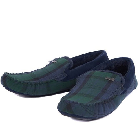 Barbour Slippers-Monty-Moccasin-Black Watch Tartan-MSL0001NY91