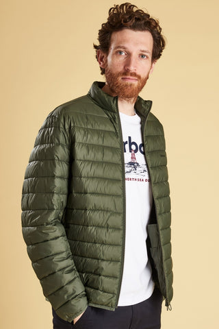 Barbour Penton Quiled Jacket-Olive-MQU0995GN51