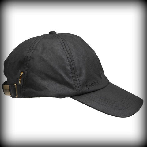 Barbour wax Sports baseball cap in BLACK.