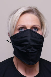 PPE-Face Masks-Fabric-Reusable-Made Locally-Black front