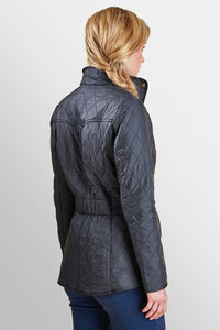 BARBOUR CAVALRY POLARQUILT - NAVY - LQU0087NY91 - Modelled Back View