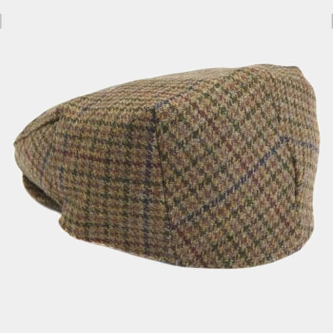 Barbour Crieff Cap - Dark Olive Check - MHA0009OL91 - Back View