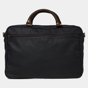 Barbour Briefcase Wax Leather - Navy - UBA0004NY91 - Back View