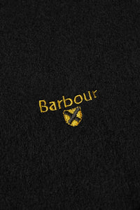 Barbour Scarf Plain Lambswool - Black - USC0008BK11 - Badge Detail