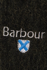 Barbour Scarf Plain Lambswool - Seaweed - USC0008GN31 - Badge Detail