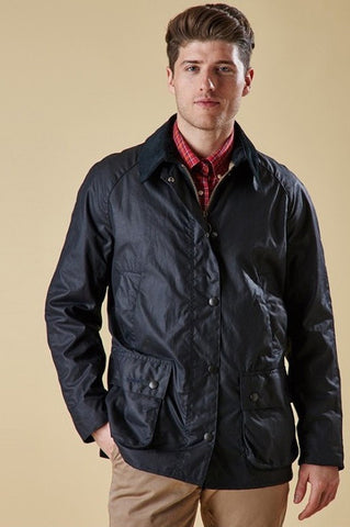Barbour Ashby-Mens Wax Jacket-Navy-MWX0339NY92