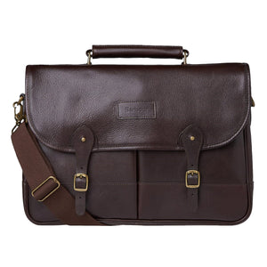 Barbour Briefcase - Dark Brown Leather - UBA0011BR91