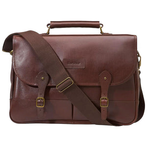 Barbour Briefcase - Leather-Dark Brown - UBA0011BR71