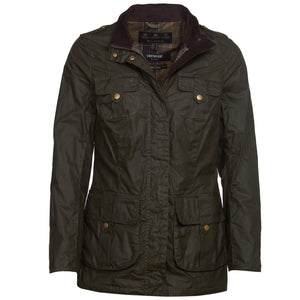 Barbour Defence-Ladies LW Wax Jacket-Olive -LWX1038OL51 coat