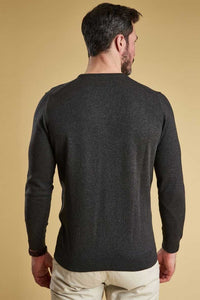 Barbour Sweater-Pima Cotton-Crew Neck-Charcoal-MKN0932CH91  back