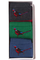 Barbour Socks-Pheasant Giftbox selection-just £25 for 3 pairs-MAC0221MI11