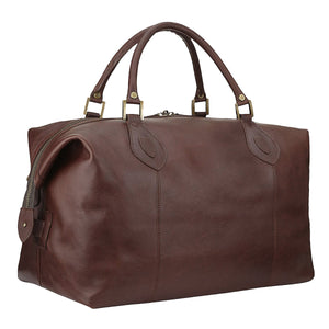 Barbour Travel Explorer Bag - Dark Brown Leather - UBA0008BR71