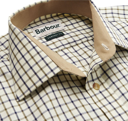129da05a Barbour Shirt Maud comfort fit in Tattersall Country Check in Navy/Olive  MSH3267NY51