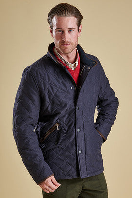 Barbour Bowden Mens Quilt in Navy cosy
