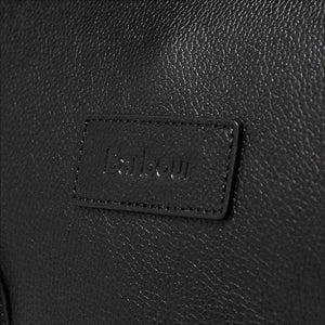 BARBOUR LEATHER BRIEFCASE - BLACK - UBA0011BK111 - Badge Detail