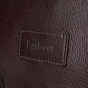BARBOUR LEATHER BRIEFCASE - CHOCOLATE BROWN - UBA0011BR91 - Badge Detail