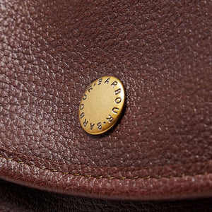 BARBOUR BRIEFCASE - DARK BROWN LEATHER UBA0011BR71 - Button Detail