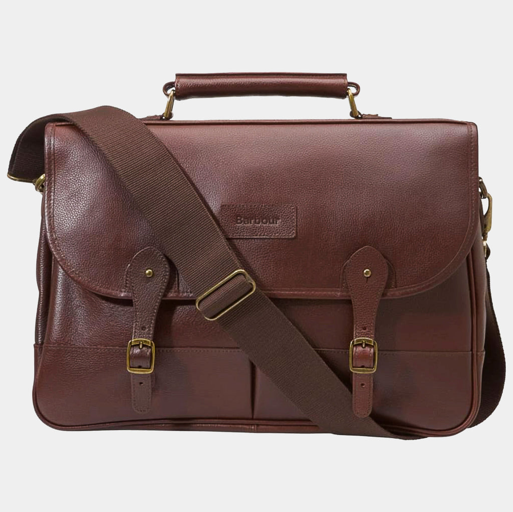 51aaf2259c Buy your Barbour Briefcase For £189 in Dark Brown Leather at SMYTHS ...