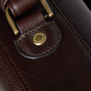 BARBOUR LEATHER BRIEFCASE - CHOCOLATE BROWN - UBA0011BR91 - Handle Detail