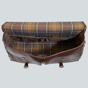 BARBOUR BRIEFCASE - DARK BROWN LEATHER UBA0011BR71 - Inside View