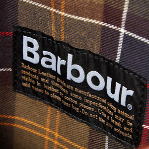 BARBOUR BRIEFCASE - DARK BROWN LEATHER UBA0011BR71 - Lining & Label Detail