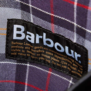 BARBOUR LEATHER BRIEFCASE - BLACK - UBA0011BK111 - Lining & Label Detail