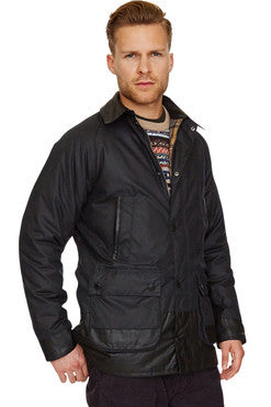 Barbour Bristol Mens Wax Jacket in Navy MWX0086NY92