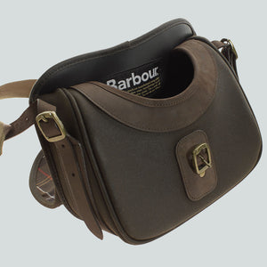 BARBOUR CARTRIDGE BAG - WAX LEATHER - UBA0001OL71 - Opened View