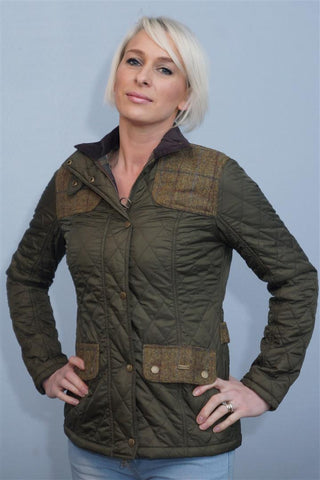 Barbour Iris ladies Quilt Jacket in Olive. LQU0479OL72