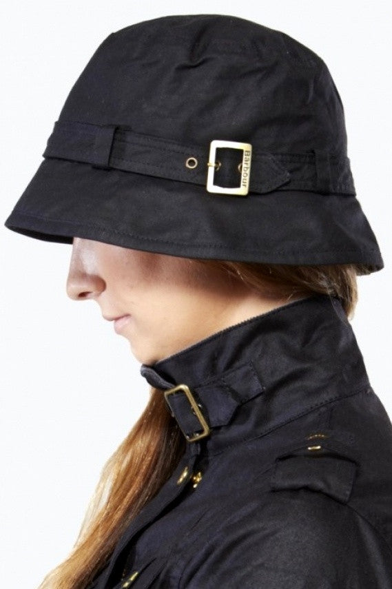 Barbour hat Kelso ladies wax belted hat in Black LHA0174BK11 ... dca5cdd036e