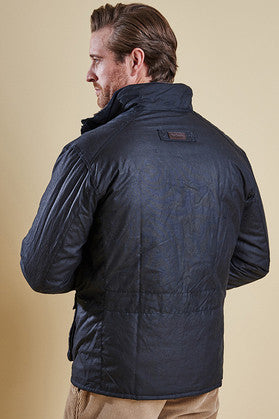 Barbour Winter Utility wax jacket in Navy MWX0903NY92 back