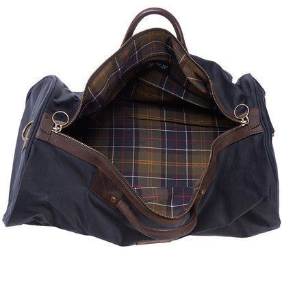 Barbour Wax Holdall in Navy UBA0017NY91 classic lining